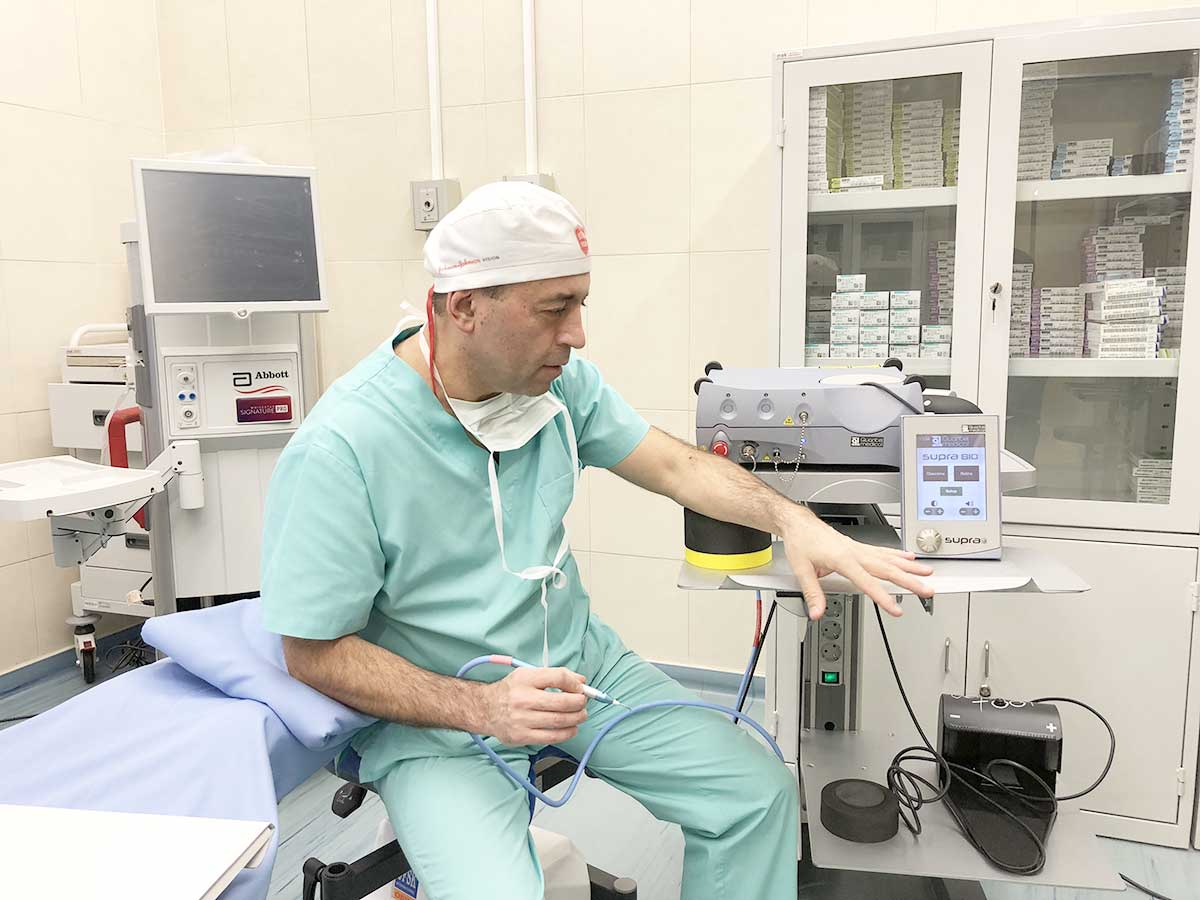An innovative laser for glaucoma patients in St. Nikolay Chudotvorets Medical Centre in Varna